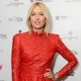 Maria Sharapova in Valentino in NYC (Video)