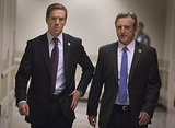 Damien Lewis and Jamey Sheridan in Homeland.