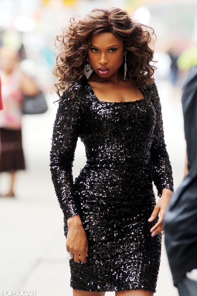 Jennifer Hudson rocked a black dress.
