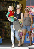 Gwen Stefani and Birthday Boy Zuma Shop For a Superhero Party