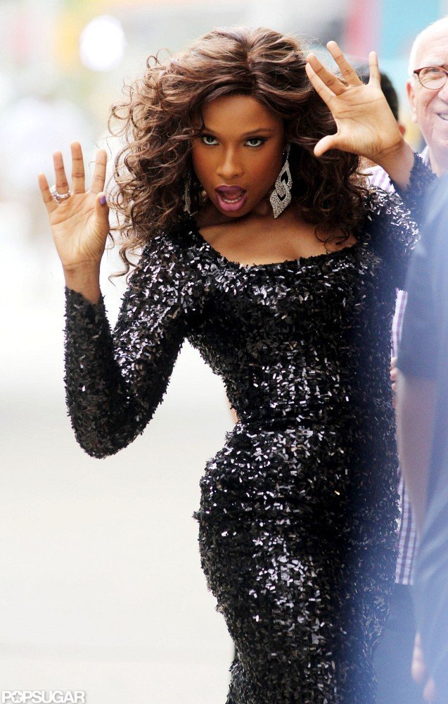 Jennifer Hudson sang on the set of Smash.