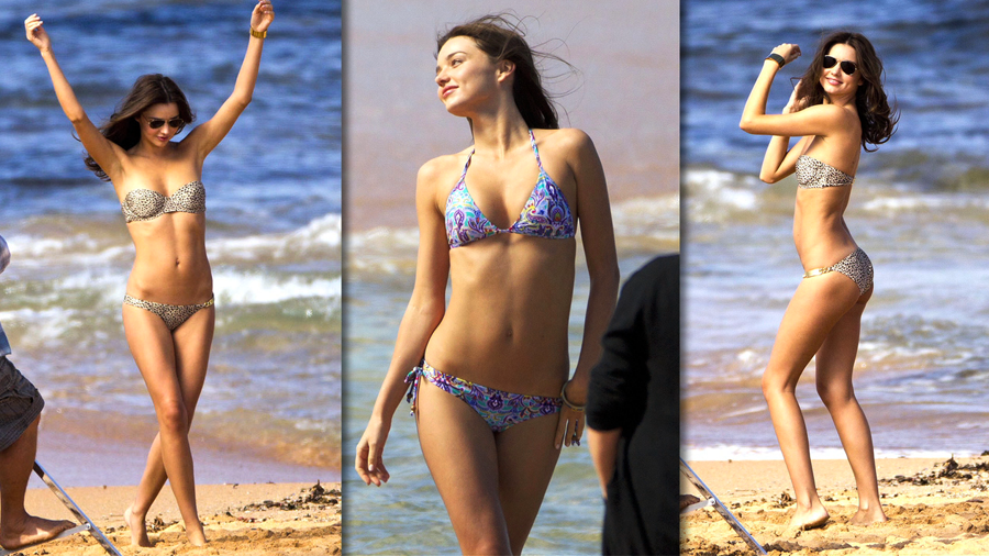See Miranda Kerr's Sexy Beach Photo Shoot Down Under!