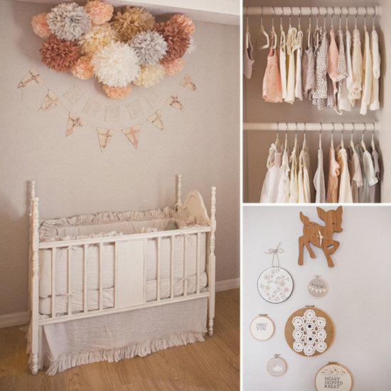 Baby Rylee's Delicate Peach-and-Gray Nursery