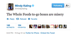 Mindy Kaling really struggles with to-go boxes sometimes.
