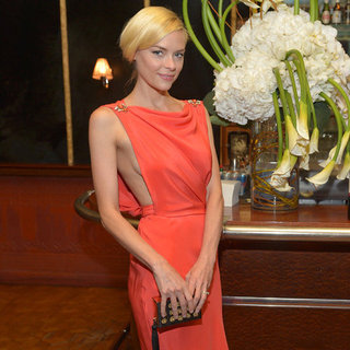 Jaime King Wearing Orange Dress