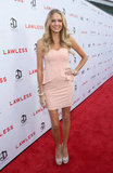 Melissa Ordway wowed in a pink dress at the LA premiere of Lawless.