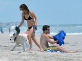 Jason Sudeikis broke from work for a beach day with Olivia Wilde.