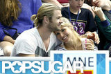 Chris Hemsworth and Elsa Pataky cuddled close at the Olympics watching a men's water polo match between Spain and Montenegro in August.