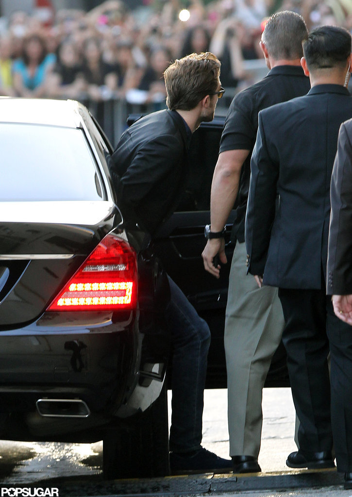 Robert Pattinson appeared on the Jimmy Kimmel Show in LA.