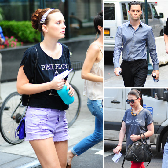 Penn, Leighton, and Michelle Dress Up and Down For Gossip Girl