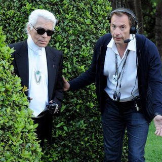 Caption This: Karl Lagerfeld in the Bushes