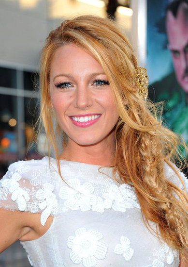 For the Green Lantern premiere in 2011, Blake stepped out in one of her most covetable styles yet: multiple fishtail braids topped off with a glistening filigreed hairpin.