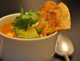 Spicy Chicken Broth With Tortilla, Avocado, and Lime
