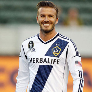 David Beckham Smiling on the Soccer Field