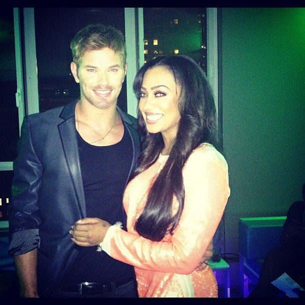 La La Anthony posed with Kellan Lutz. Source: Instagram user lala
