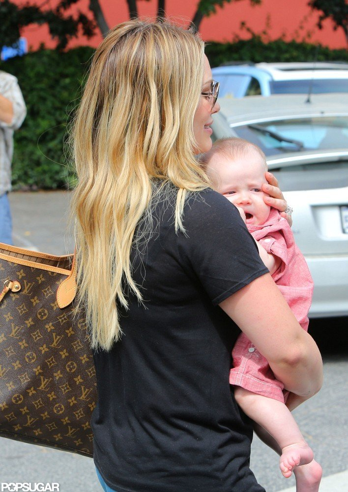 Hilary Duff spent the day with Luca Comrie in Santa Monica.