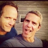 Andy Cohen hung out with John Benjamin Hickey. Source: Instagram user bravoandy