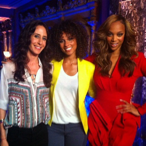 Alicia Keys was a judge on America's Next Top Model with Mara Hoffman and Tyra Banks. Source: Instagram user aliciakeys