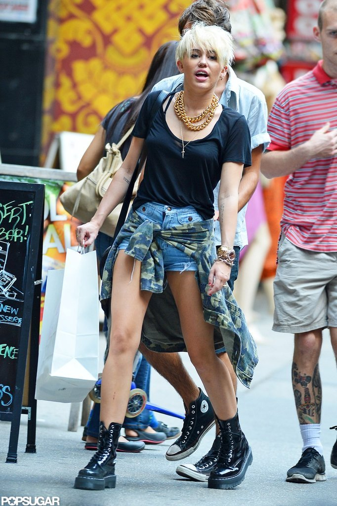 Miley Cyrus took her platinum hair to NYC.