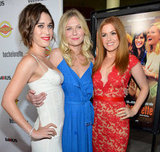 Bachelorette stars Lizzy Caplan, Kirsten Dunst, and Isla Fisher linked up at the premiere in LA.