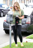 Hilary Duff paid a parking meter in Hollywood.