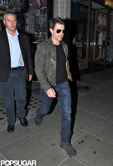 Tom Cruise left the back exit of Chinawhite.