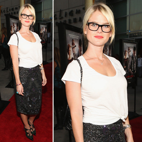 Get the styling tips to pull off Alice Eve's geeky-glam look.