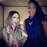 Ricki-Lee Coulter got her hands on basketballer Liz Cambage's Olympic medal. Source: Instagram user therickilee