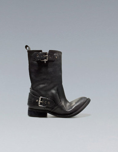BIKER ANKLE BOOT WITH BUCKLES - Boots and ankle boots - Shoes - Woman - ZARA United States