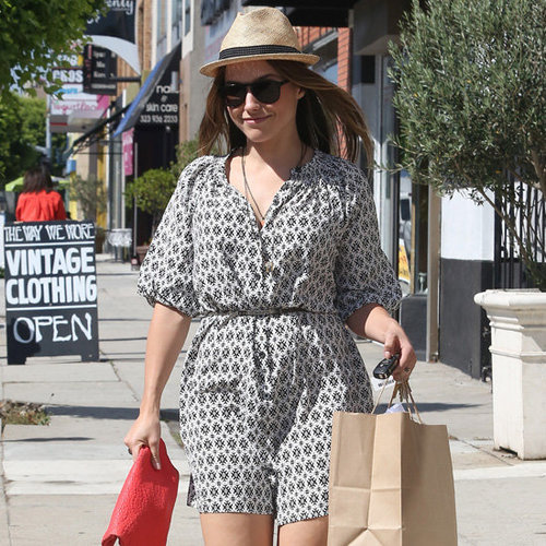 Sophia Bush Wearing Printed Dress