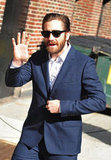 Jake Gyllenhaal waved to fans in NYC.
