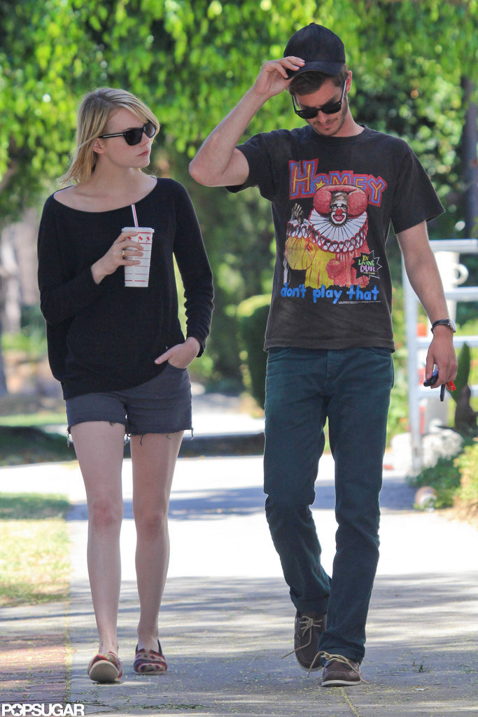 Andrew Garfield and Emma Stone strolled together.