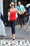 Cameron Diaz walked toward a gym in NYC.