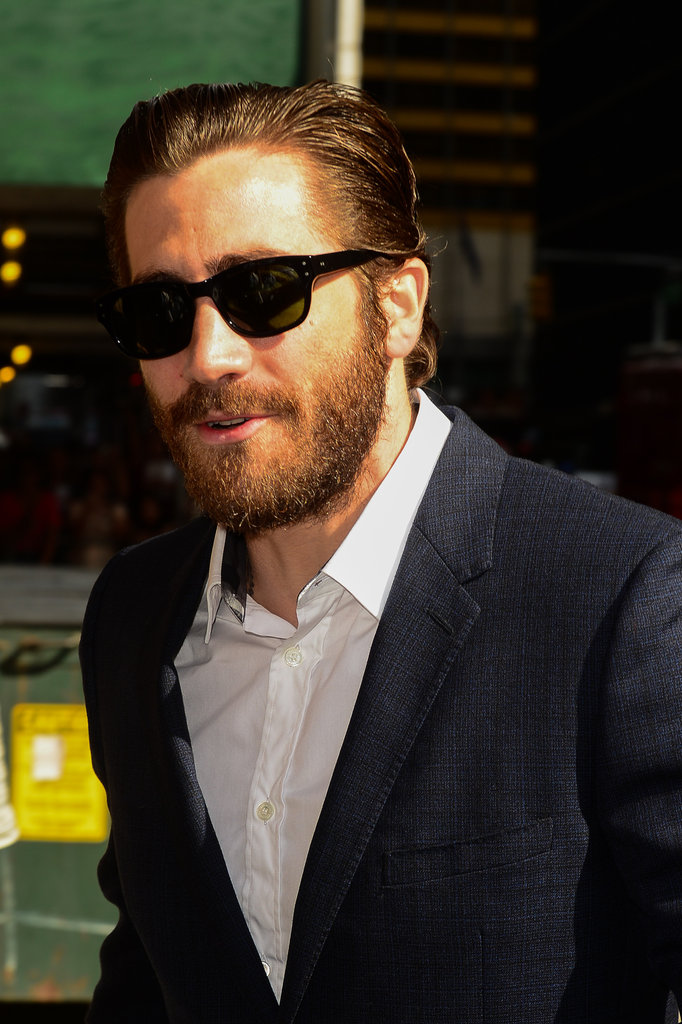 Jake Gyllenhaal sported sunglasses and facial hair in NYC.
