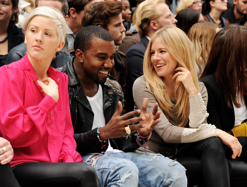 Singer Ellie Goulding was next to Kanye West and Sienna Miller for Burberry in September 2011 in London.