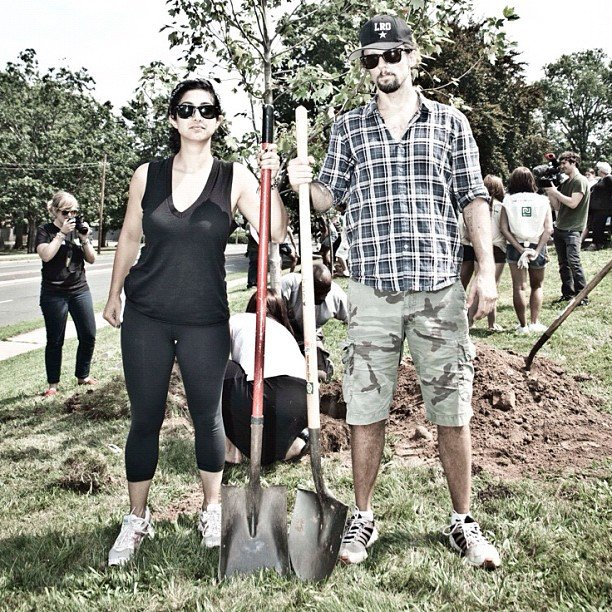 Jason Mraz planted trees.  Source: Instagram user jason_mraz