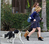 Anna Paquin walked her dog Splash.