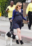 Anna Paquin showed her baby bump in LA.