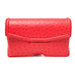 """I tend to wear darker colors in Fall, which also makes it the best time to inject a pop of color with a bright bag, like this Alexander Wang ostrich clutch. I think it'll look especially great against an LBD or gray jeans.""