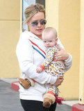 Hilary Duff and her son, Luca Comrie, hit the shops in LA together Saturday.