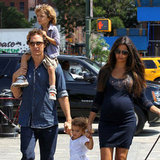 Matthew McConaughey, Pregnant Camila Alves and Kids Pictures Walking in Tribeca NYC