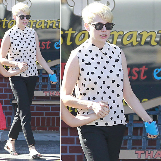 What To Wear With A Black And White Polka Dot Blouse 7