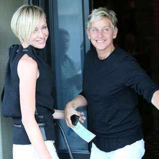 Ellen DeGeneres and Portia de Rossi Dinner Date at Craig's