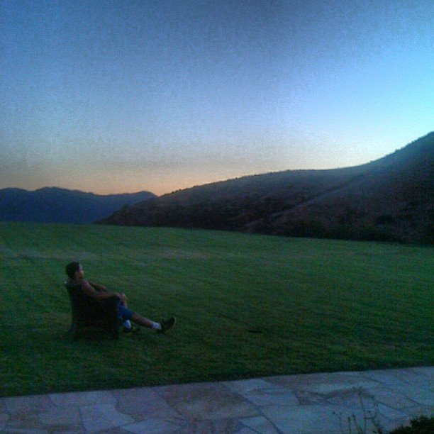 Romeo Miller watched the setting sun.  Source: Instagram User romeomiller
