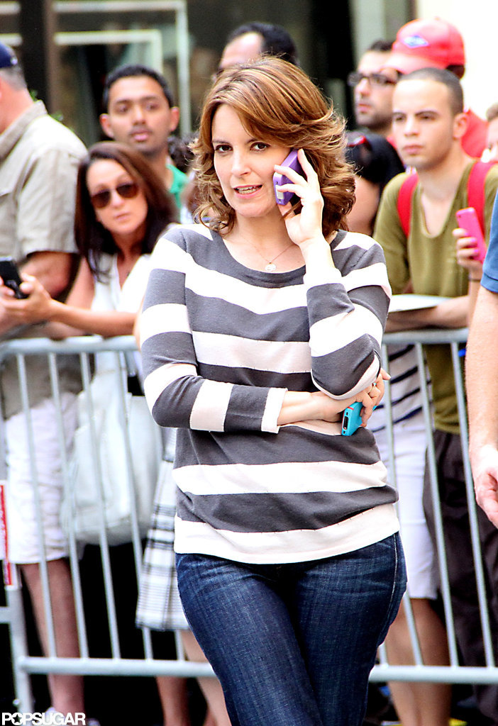 Tina Fey filmed the final season of 30 Rock.