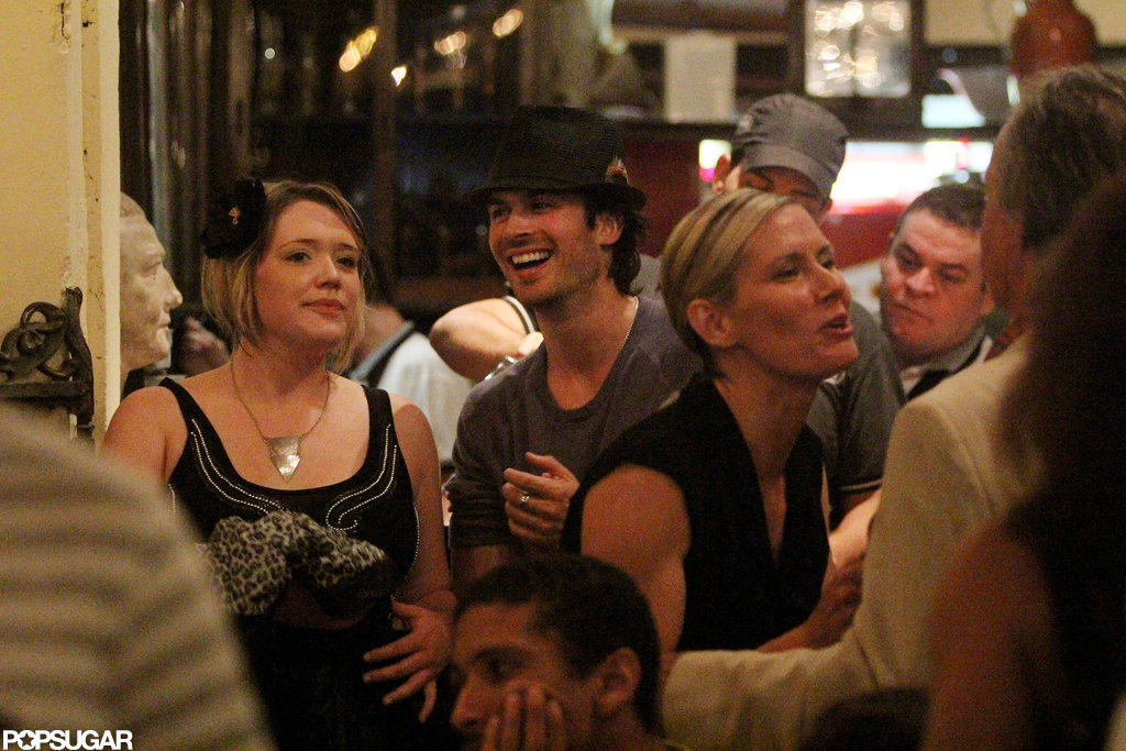 Ian Somerhalder let loose with friends at Rio's Scenarium bar during a June 2012 trip.