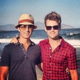 Brad Goreski and his boyfriend, Gary Janetti, posed together at the beach.  Source: Instagram User mrbradgoreski