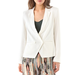 This white blazer will up the ante on our t-shirts and trouser combos all week long.