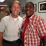 30 Rock costars Tracy Morgan and Jack McBrayer stopped for a photo op. Source: Twitter user RealTracyMorgan