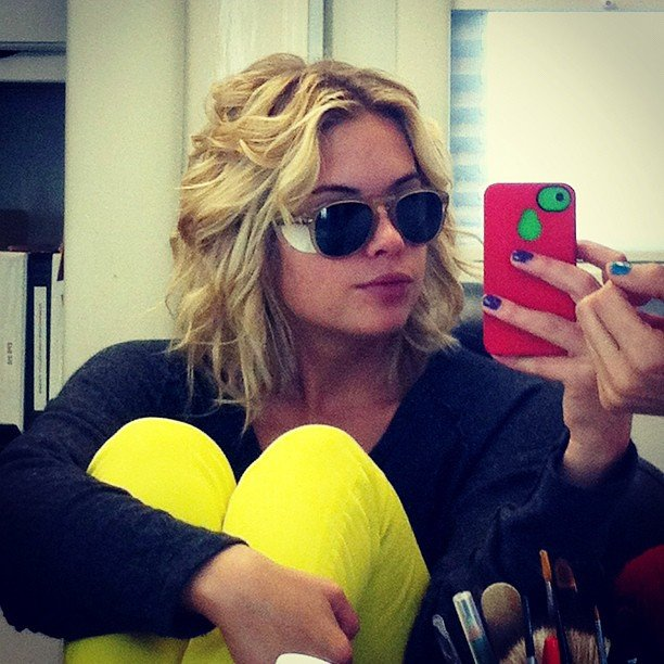Ashley Benson sported eye patches. Source: Instagram user itsashbenzo